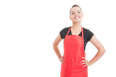 Confident smiling employee with positive attitude Royalty Free Stock Photos