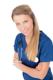 Confident smiling female Doctor with stethoscope Royalty Free Stock Photo