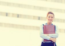 Confident smiling happy pretty young professional woman Stock Images