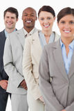 Confident smiling salesteam standing together Royalty Free Stock Photos