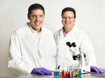 Confident Smiling Scientists Stock Photography