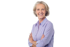 Confident Smiling senior citizen Stock Image