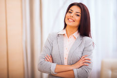 Confident smiling woman Stock Images