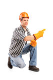 A confident and smiling worker posing Royalty Free Stock Images
