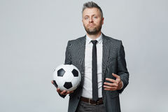 Confident soccer manager Royalty Free Stock Photography