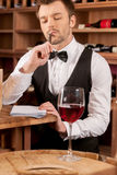 Confident sommelier. Royalty Free Stock Photos