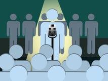 Confident Speaker or Performer On the Spotlight Stock Image