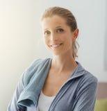 Confident sportswoman Stock Image