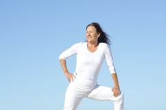 Confident sporty senior woman outdoor Stock Images