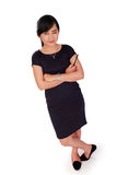 Confident standing businesswoman isolated stock images