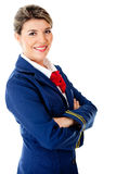 Confident stewardess Royalty Free Stock Photo
