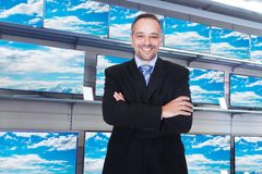 Confident storekeeper Royalty Free Stock Image
