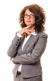 Confident strong business woman Stock Image