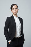 Confident strong businesswoman posing Stock Images