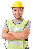 Confident, strong construction worker Royalty Free Stock Image