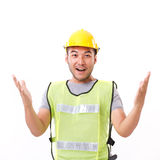 Confident, strong construction worker Royalty Free Stock Photos