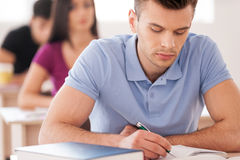 Confident student. Royalty Free Stock Image