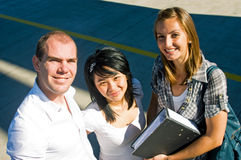 Confident students Royalty Free Stock Photo