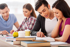 Confident students. Stock Images