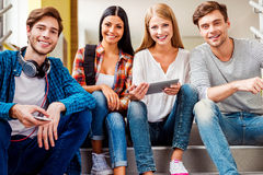 Confident students. Royalty Free Stock Image
