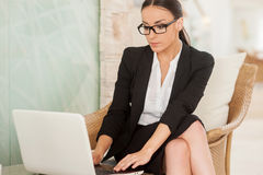 Confident and successful business lady. Royalty Free Stock Photos