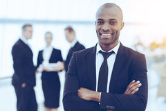 Confident and successful businessman. Royalty Free Stock Photo