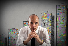 Confident and successful businessman Stock Images