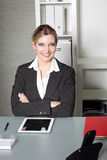 Confident successful businesswoman Stock Photos