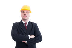 Confident and successful contractor, foreman, or architect Stock Images