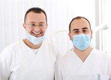 Confident successful doctors in hospital Royalty Free Stock Image