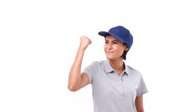 Confident, successful female worker. White isolated background Stock Photography