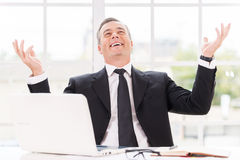 Confident and successful. Royalty Free Stock Photo