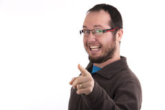Confident successful  man smiling isolated Royalty Free Stock Photography