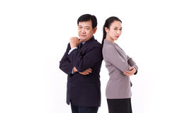 Confident, successful pair of senior management team, boss with Royalty Free Stock Photos