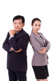 Confident, successful pair of senior management team, boss with stock photography