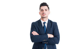 Confident successful and proud businessman with arms crossed Stock Image