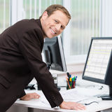 Confident successful young businessman Stock Photo