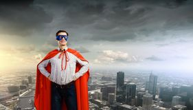 Confident superhero Royalty Free Stock Photos