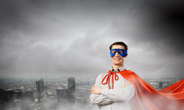 Confident superhero Royalty Free Stock Images