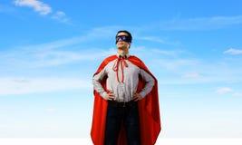 Confident superhero stock image