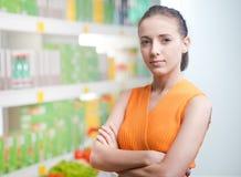 Confident supermarket customer Royalty Free Stock Photos