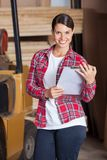 Confident Supervisor Holding Clipboard Royalty Free Stock Photography