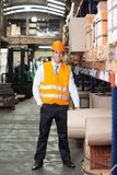 Confident Supervisor Standing At Warehouse Royalty Free Stock Photos