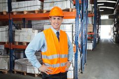 Confident Supervisor At Warehouse Royalty Free Stock Image