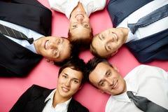 Confident team Stock Images