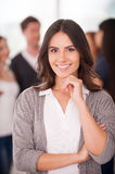Confident team leader. royalty free stock images
