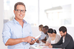 Confident team leader. Royalty Free Stock Photography
