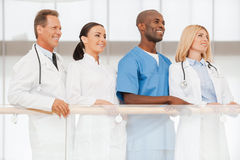 Confident team of medical experts. Stock Photo