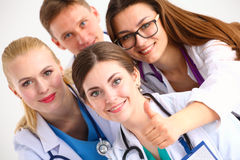Confident team of young doctors willing to work Stock Photo