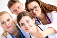 Confident team of young doctors willing to work Stock Image
